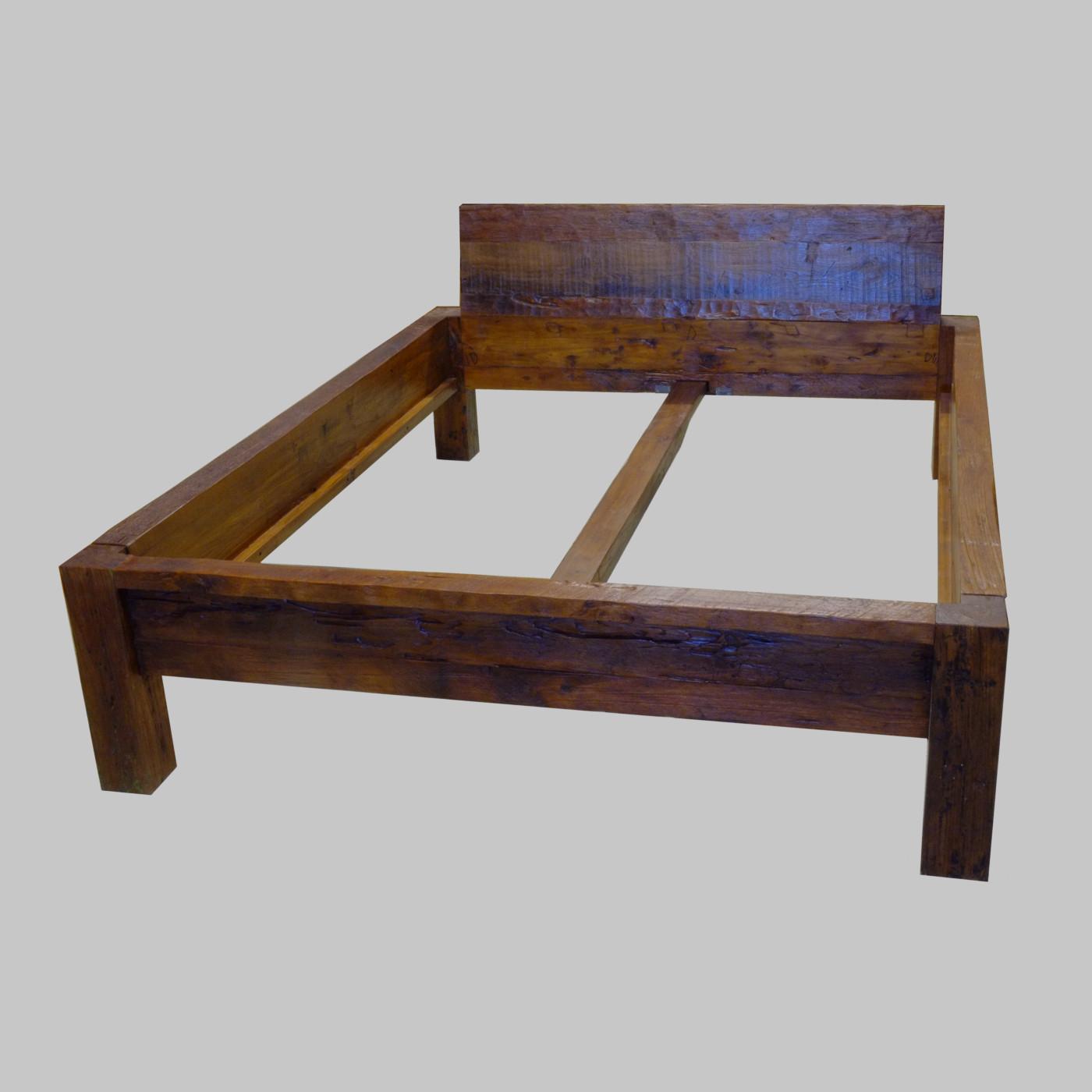 bett dalum 140 rustikal mit r ckenlehne batavia. Black Bedroom Furniture Sets. Home Design Ideas