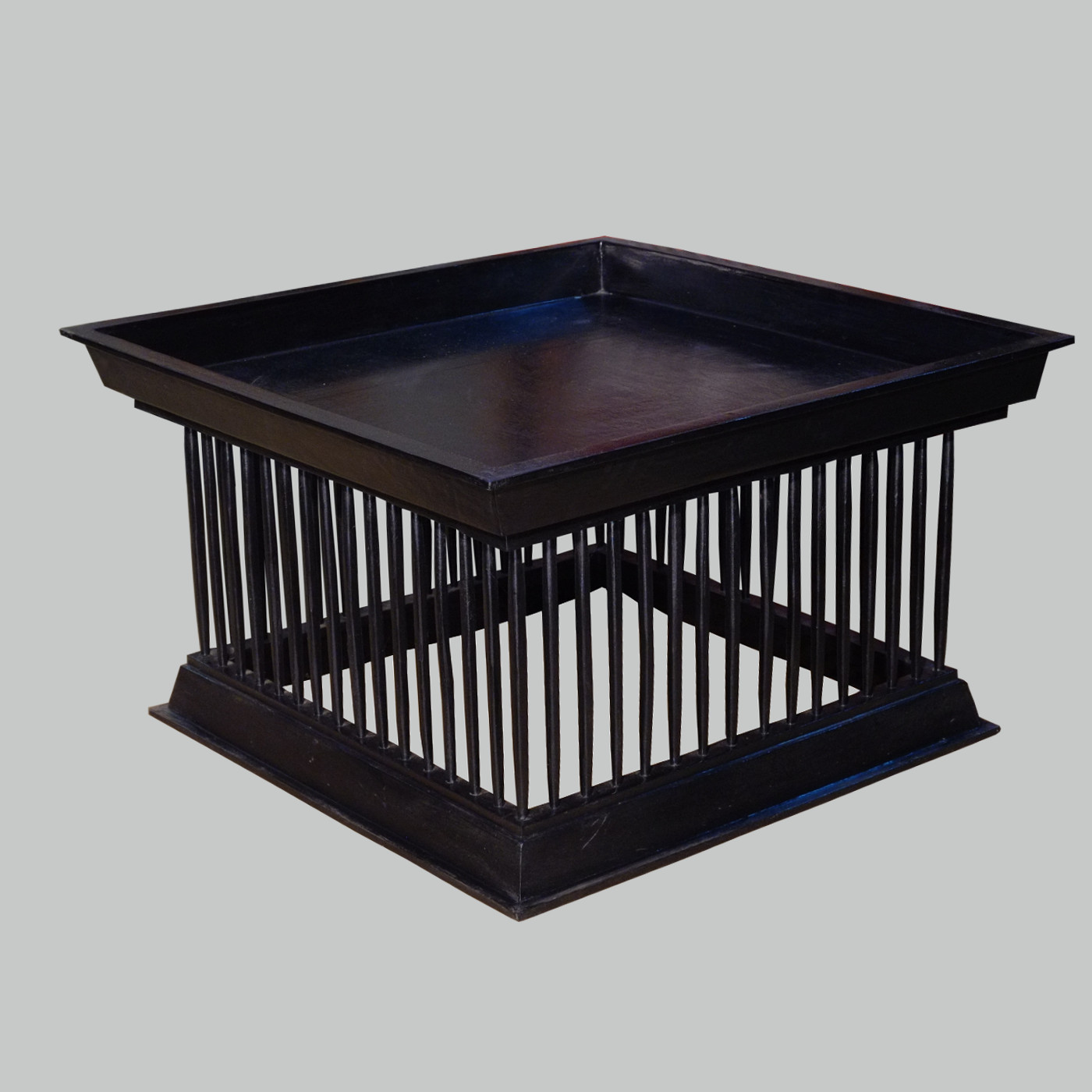 burmesischer tempeltisch schwarz quadratisch 85x85 batavia. Black Bedroom Furniture Sets. Home Design Ideas