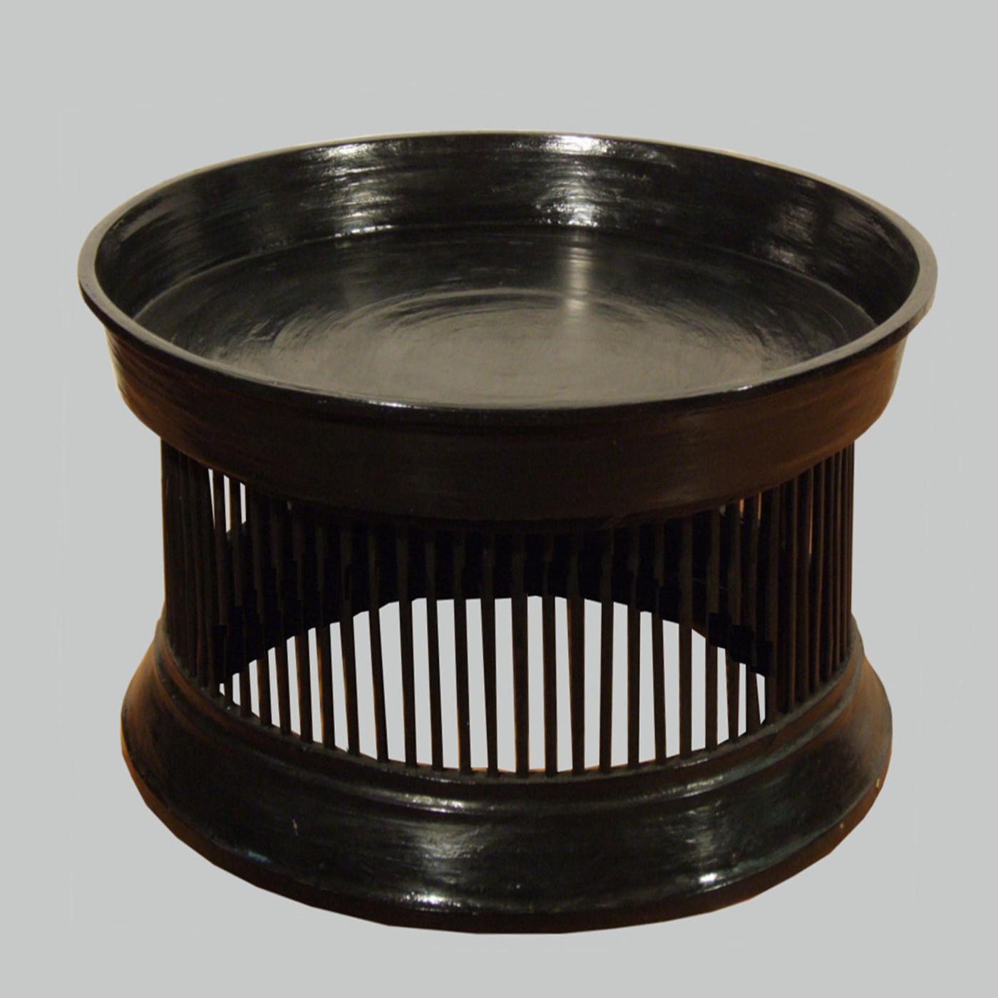 burmesischer tempeltisch schwarz d90 h60 batavia. Black Bedroom Furniture Sets. Home Design Ideas